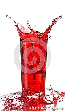 Fruit juice splash in a glas