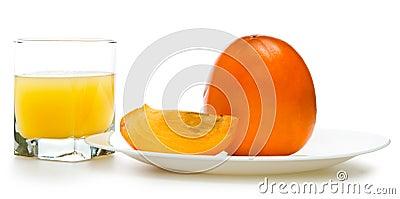 Fruit juicy persimmons