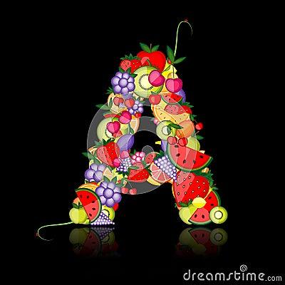 Fruit letter for your design