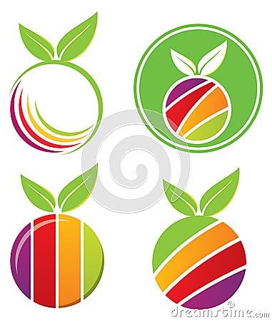 Fruit Logo Set