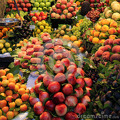 Free Fruit Market In Barcelona Stock Image - 26006541