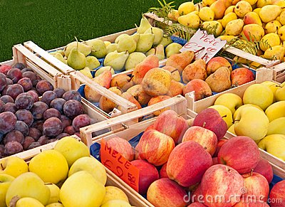Fruit at the market in Italy