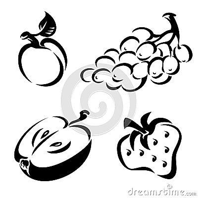 Fruit noir et blanc