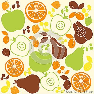 Fruit Pattern Background
