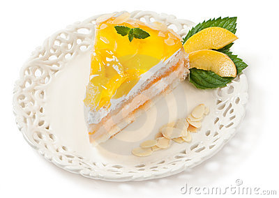 Fruit peach cake