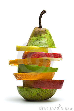Fruit pile isolated