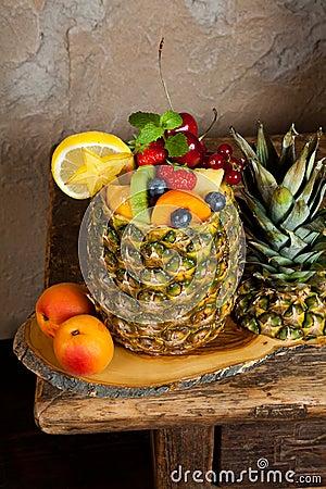 Fruit in pineapple