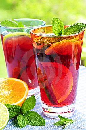 Free Fruit Punch In Glasses Stock Photography - 10635432