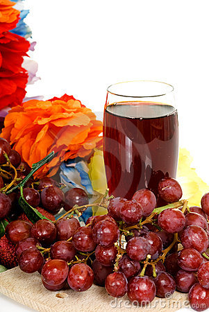 Fruit, red grape juice