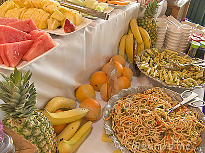Fruit and Salad Buffet Table