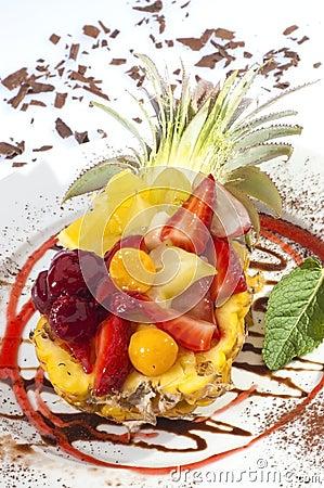 Free Fruit Salad In Pineapple Royalty Free Stock Image - 20461726
