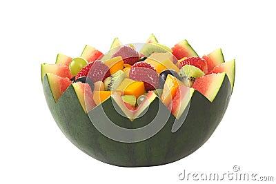 Fruit Salad in Melon Bowl