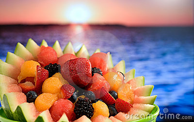 Fruit Salad at Ocean