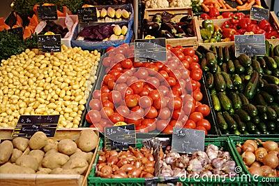 Fruit for sale on market stall