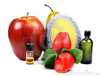 Fruit scrub and oils