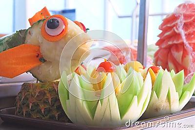 Fruit Scuptures
