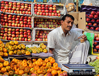 Fruit seller Editorial Image