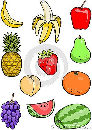 Free Fruit Set Royalty Free Stock Photo - 15848925