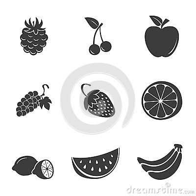 Free Fruit Set Icons Stock Images - 74658154
