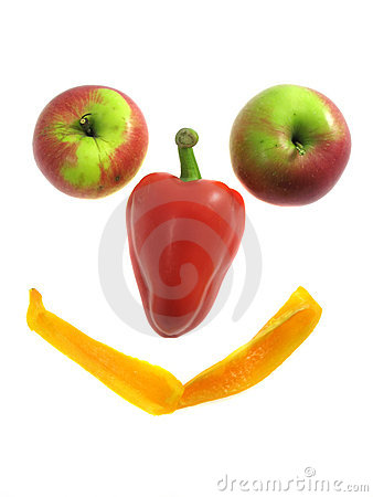 Fruit smile isolated on white