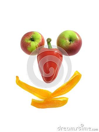Fruit smile isolated on white