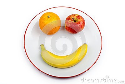 Fruit Smiley Face on a Plate