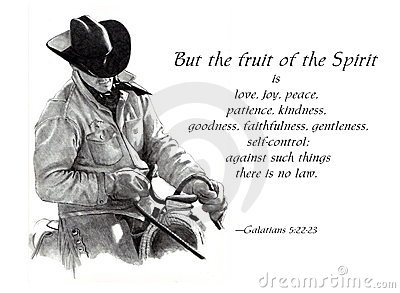 Fruit of the Spirit Bible Verse with Cowboy