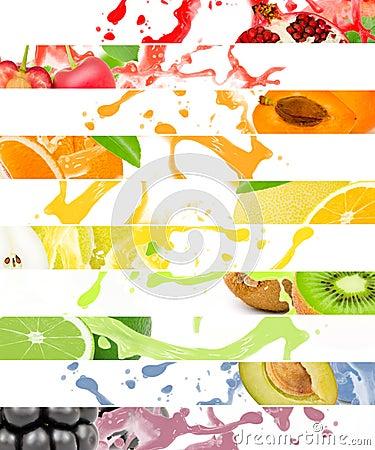 Free Fruit Splash Stock Photography - 58661622