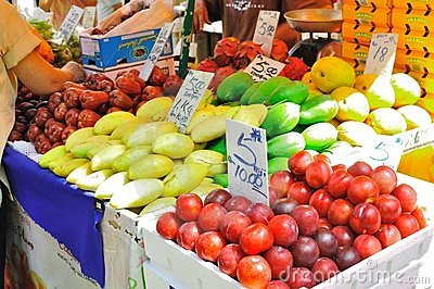 Fruit stall in Petaling Street , Malaysia Editorial Stock Photo