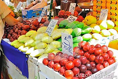 Fruit stall in Petaling Street , Malaysia Editorial Stock Photo