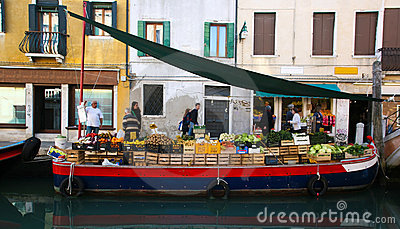Fruit stall in Venice Editorial Image