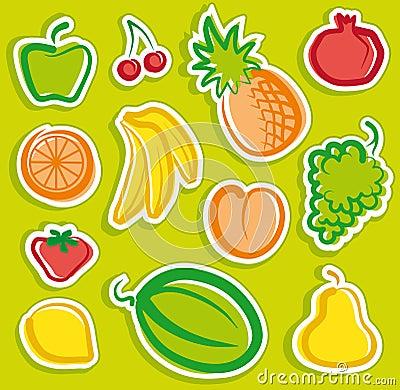 Free Fruit Stickers Stock Photos - 14086423