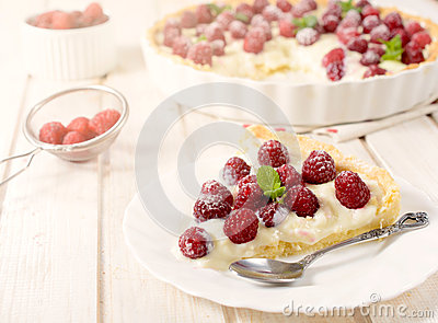 Fruit tart cake Stock Photo