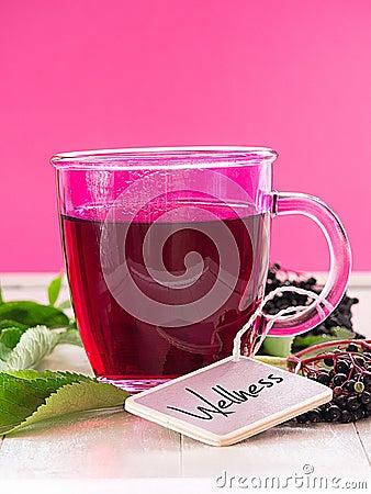 Fruit tea with elderberry