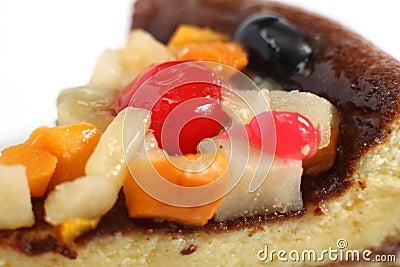 Fruit topped sponge cake macro