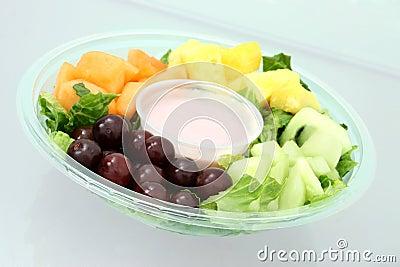 Fruit Tray and Yogurt