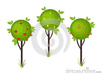 Fruit tree icons