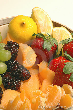 Fruit variety cantaloupe strawberry raspberry