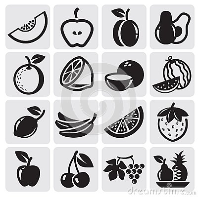 Free Fruit Vector Set Royalty Free Stock Photos - 25926498