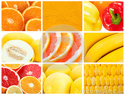 Fruit and vegetable backgrounds
