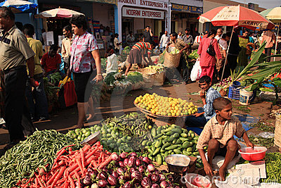Fruit and vegetable market Goa Editorial Photo