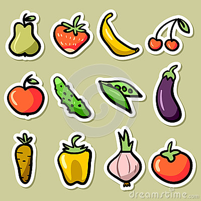 Fruit and vegetable set