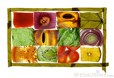 Fruit and vegetable slices