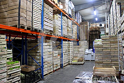 Production in warehouse shelves Editorial Photography