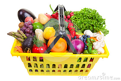 Fruit And Vegetables Basket Stock Photos - Image: 24502463