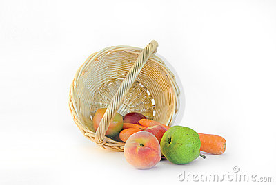 Fruit and vegetables in a basket
