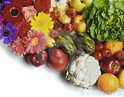 Fruit, vegetables and flowers