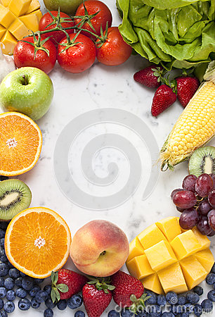 Free Fruit Vegetables Frame Background Stock Photos - 27206743