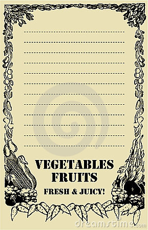 Fruit and vegetables Price Board