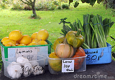Fruit and vegetables for sale in Guernsey